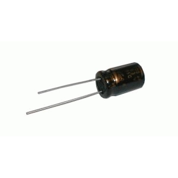Kondenzátor elektrolytický NP 2M2 100V 6x12-3 Jam.NK