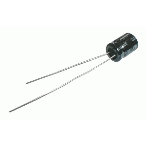 Kondenzátor elektrolytický NP 3M3 100V 8x13-3.5 Jam.NK DOPREDAJ