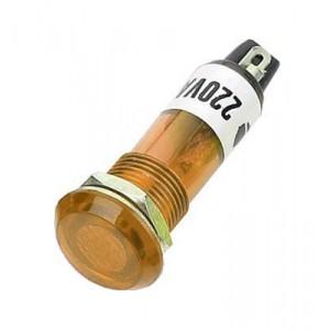Kontrolka 230V s tlejivkou, žltá do otvoru 10mm