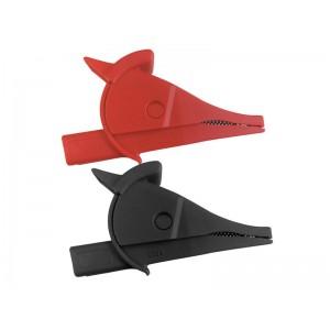 Krokosvorka UNI-T C02A sada-červená+čierna L=80mm CAT III 1000V/CAT IV 600V