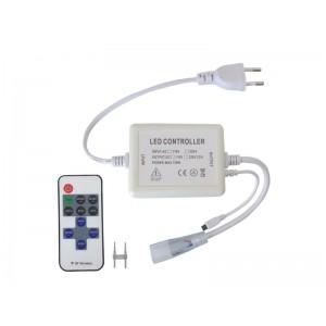 LED kontroler pre LED pásiky 230V s čipem 5050 + diaľkové ovládánie