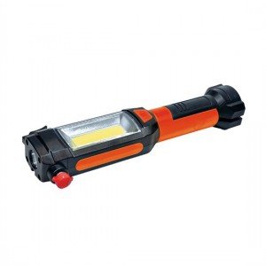 LED svietidlo multifunkčné, 3W COB + 1W LED, klip, magnet, flexibilné, 3x AAA