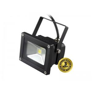 LED vonkajší reflektor, 10W, 700lm, AC 230V, čierny