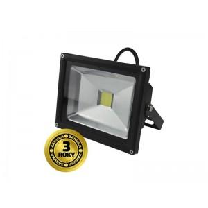 LED vonkajší reflektor, 20W, 1400lm, AC 230V, čierny SOLIGHT WM-20W-E