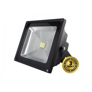LED vonkajší reflektor, 30W, 2100lm, AC 230V, čierny