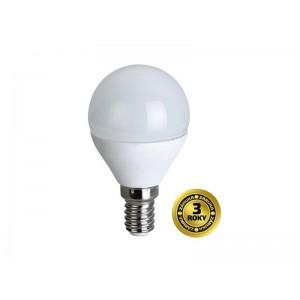 LED žiarovka, miniglobe, 6W, E14, 3000K, 420lm, biele prevedenie