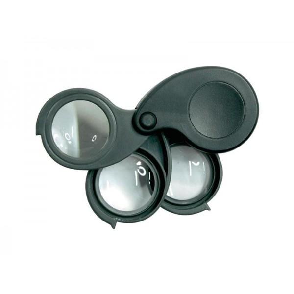 Lupa s tromi šošovkami Magnifier 5.10.15x