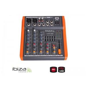 Mixážný pult IBIZA MX401 štvorkanalový