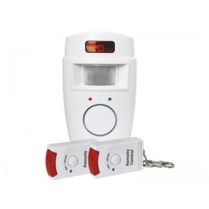 Nástenný alarm s PIR a 2x diaľkovým ovládaním