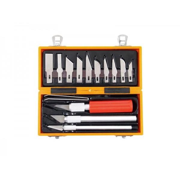 Nože vyrezávacie + vymeniteľné čepele, 14-dielna sada, EXTOL CRAFT 91350
