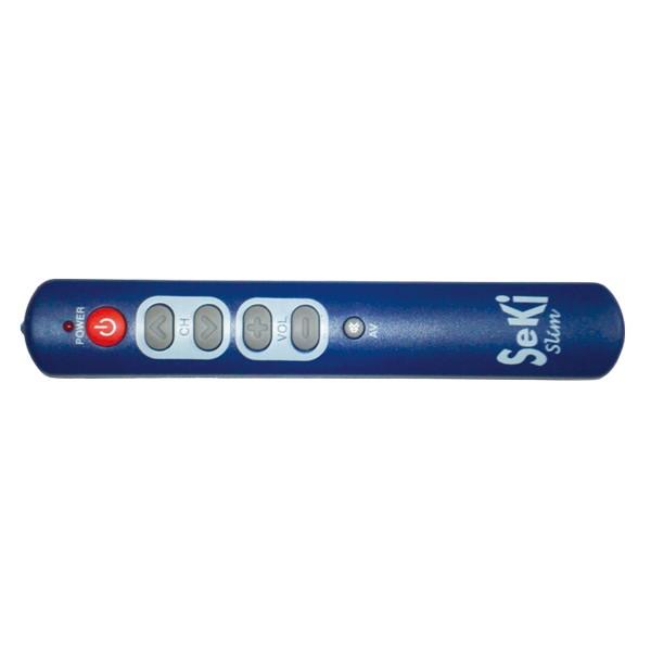 Ovládač diaľkový SEKI SLIM modrý pre seniorov - univerzálny- veľké tlačítka