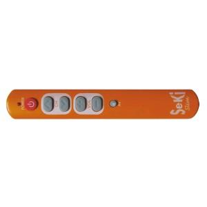 Ovládač diaľkový SEKI SLIM oranžový pre seniorov - univerzálny - veľké tlačítka