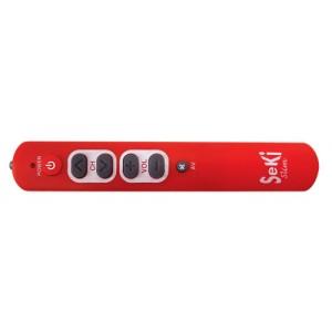 Ovládač diaľkový Seki SLIM červený pre seniorov - univerzálny - veľké tlačidlá