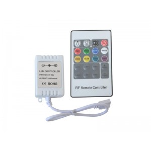 Ovládač pre LED pásik 12/24V - RGB kontroler pre LED pásiky 12V, RF
