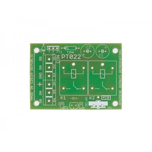 Plošný spoj PT022 Oneskorené zopnutie reproduktorov