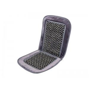 Poťah sedadla guličkový s lemom šedý 93x40cm