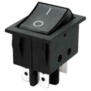 Prepínač kolískový 2pol. 4pin (ON)-OFF 250V 15A