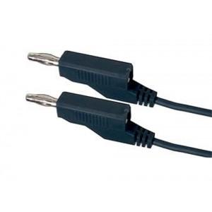 Prepojovací kábel 0,35mm2/ 0,5m s banánikmi čierny
