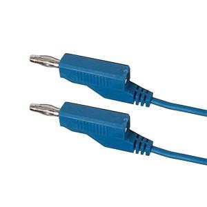Prepojovací kábel 0,35mm2 1m s banánikmi modrý