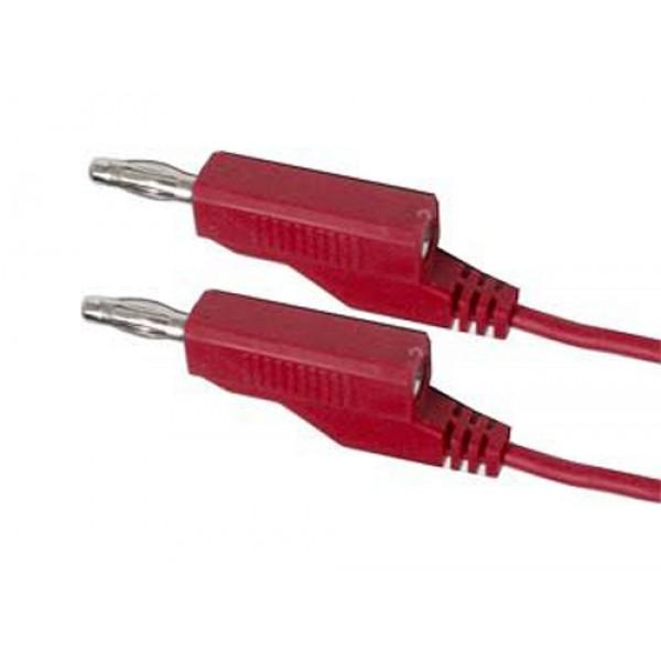 Prepojovací kábel 0,35mm2 / 2m s banánikmi červený