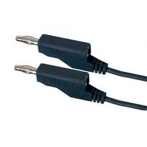 Prepojovací kábel 0,35mm2/ 2m s banánikmi čierny
