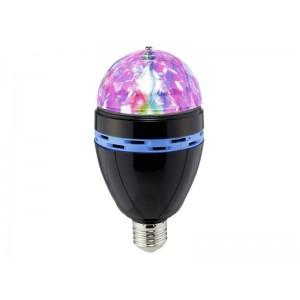 RGB LED žiarovka Light Party, E27, čierna