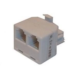 Redukcia telefónna konektor 2x zdierka 6p-4c