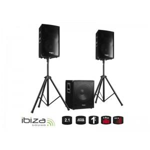 Reprosústava IBIZA CUBE1512 - aktívny ozvučovací set