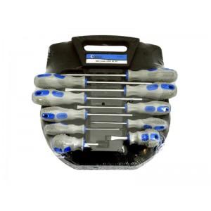 Sada skrutkovačov, 10ks, modro-šedá, GEKO