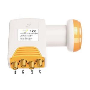 Satelitný konvertor Golden Media GI204 MS+ 0.1dB quatro