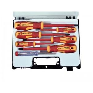 Skrutkovače elektrikárske so skúšačkou, sada 7ks, 3x(-),3x(PH), CrV, EXTOL PREMIUM