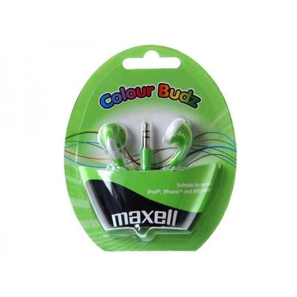 Slúchadla Maxell 303361 Colour Budz Green
