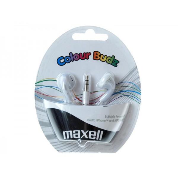 Slúchadlá Maxell 303484 Colour Budz White