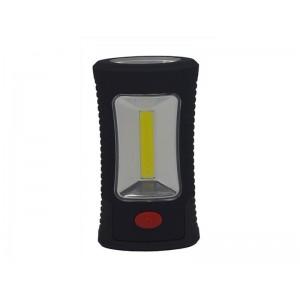 Svietidlo LED pracovné, 3W COB + 3 SMD LED, hák + magnet, 3 x AAA