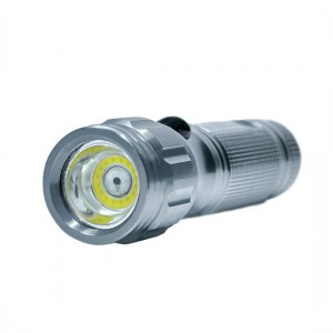 Svietidlo led, 3W COB + infra laser, stříbrná, 3x AAA