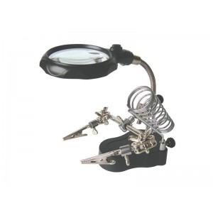 Tretia ruka s lupou - 2x LED