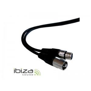 Vodič mikrofónny alebo DMX vodič 1,5m, XLR koncovka, XLR zásuvka