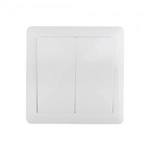 Vypínač Slim č. 5 sériový - lustrový, bielý, SOLIGHT 5B106