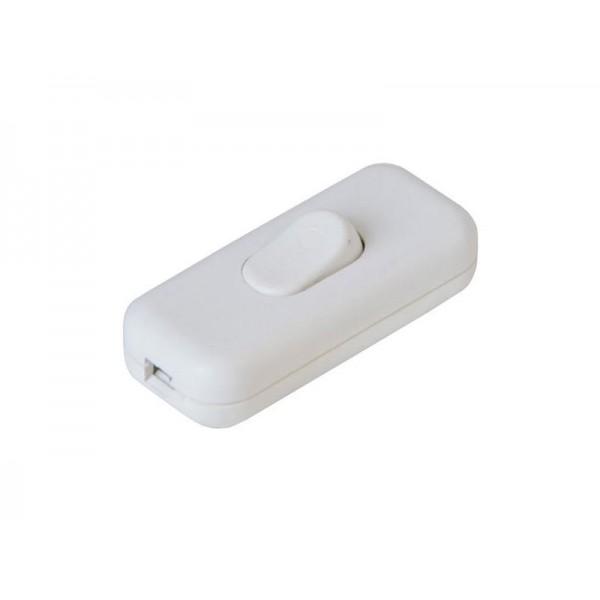 Vypínač medzišnúrový 250V/2,5A biely
