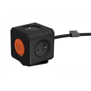 Zásuvka PowerCube EXTENDED REMOTE SINGLE s káblom 1.5m čierna