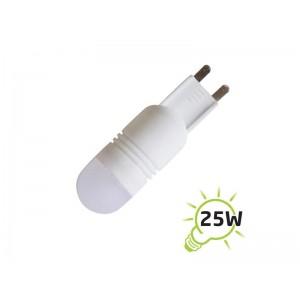 Žiarovka LED G9 8SMD, 2,5W - biela teplá (DVZLED)