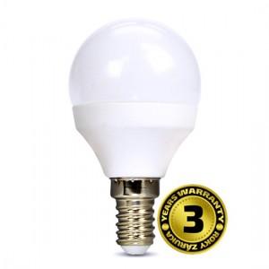 Žiarovka LED miniglobe E14 8W biela teplá SOLIGHT 3 roky záruka, WZ430