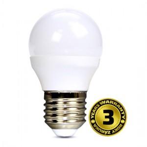 Žiarovka LED miniglobe E27 8W biela teplá SOLIGHT 3 roky záruka