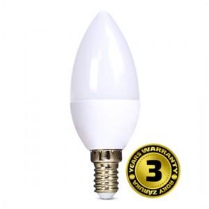 Žiarovka LED sviečka E14 8W biela teplá SOLIGHT 3 roky záruka