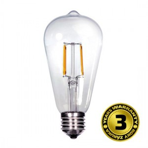 Žiarovka retro LED, EDISON ST65, 8W, E27, 3000K, 360°, 810lm SOLIGHT WZ526
