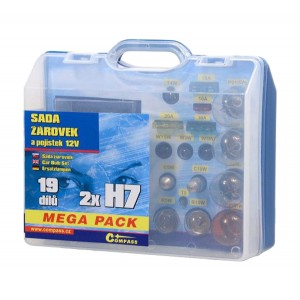 Žiarovky 12V servisný box MEGA H7 + H7 + poistky