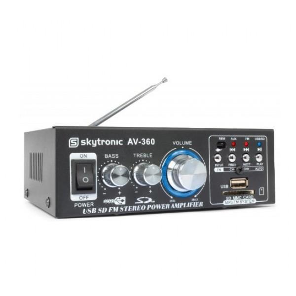 Zosilňovač HiFi 2x 40W FM / USB / SD SKYTEC