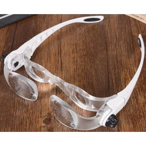 Zväčšovacie okuliare s lupou, zväčšenie 2-4x