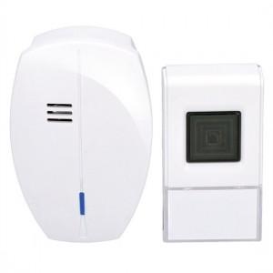 Zvonček domový bezdrôtový 1L56 do zásuvky, 120m, biely