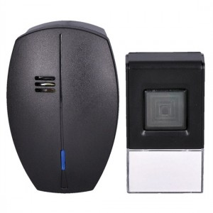 Zvonček domový bezdrôtový 1L56B do zásuvky, 120m, čierny